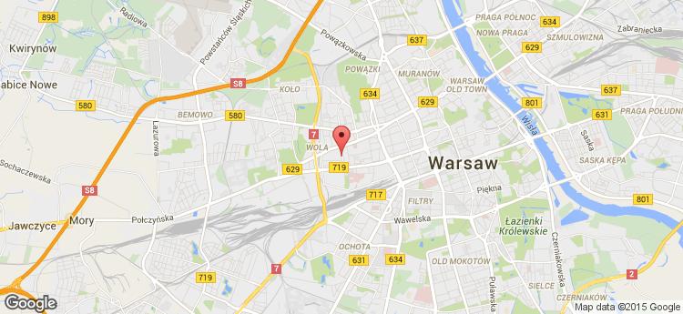 Płocka Centre static map