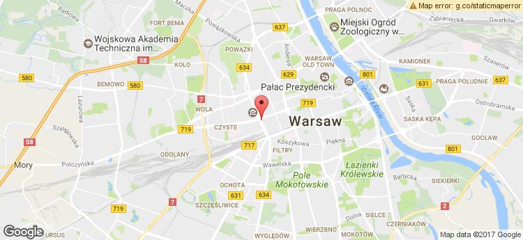 The Warsaw Hub B static map