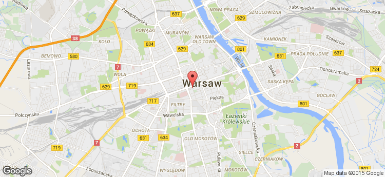 Warsaw Corporate Center static map