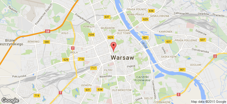 Warsaw Financial Center static map