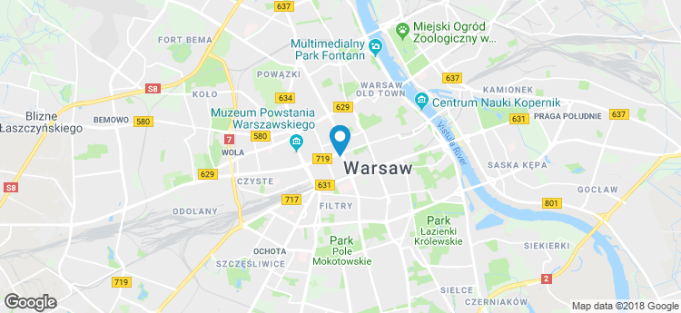 Warsaw One static map